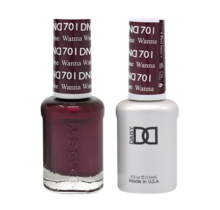 DND Duo Gel Matching Color - 701 Wanna Wine