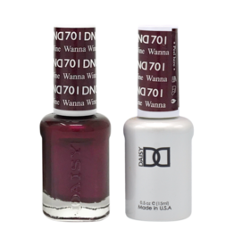 DND 701 Wanna Wine - DND Duo Gel + Lacquer