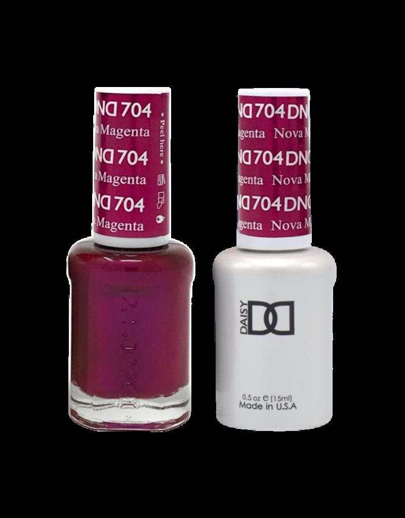 DND 704 Nova Magenta - DND Duo Gel + Lacquer