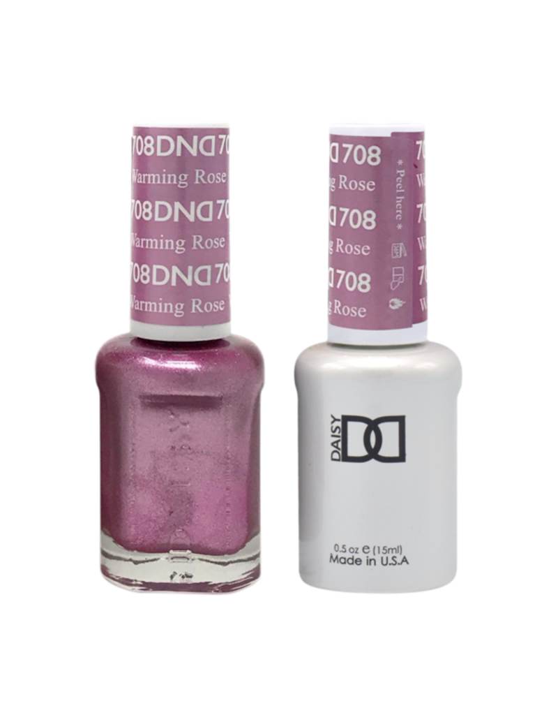 DND 708 Warming Rose - DND Duo Gel + Lacquer