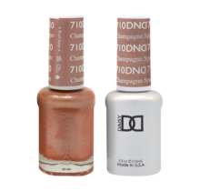 DND Duo Gel Matching Color - 710 Champagne Sparkles