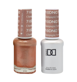 DND 710 Champagne Sparkles - DND Duo Gel + Lacquer