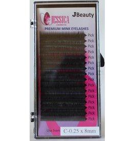 JBeauty Premium Mink Individual Eyelashes C-0.25 x 8mm
