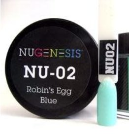 NuGenesis NUGENESIS Robin's Egg Blue - Nail Dipping Color Powder 43g NU 02