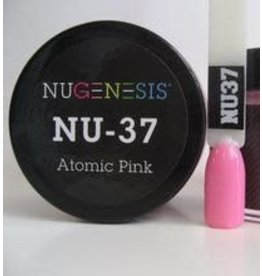 NuGenesis NUGENESIS Atomic Pink - Nail Dipping Color Powder 43g NU 37