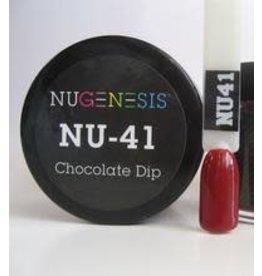 NuGenesis NUGENESIS Chocolate Dip - Nail Dipping Color Powder 43g NU 41