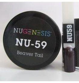 NuGenesis NUGENESIS Beaver Tail - Nail Dipping Color Powder 43g NU 59