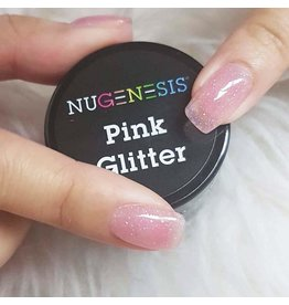 NuGenesis NUGENESIS Pink Glitter - Nail Dipping Color Powder 43g