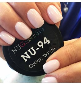 NuGenesis NUGENESIS Cotton White - Nail Dipping Color Powder 43g NU 94