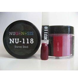 NuGenesis NUGENESIS Rave Red - Nail Dipping Color Powder 43g NU 118