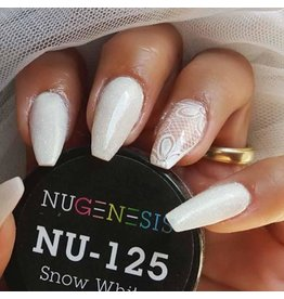 NuGenesis NUGENESIS Snow White - Nail Dipping Color Powder 43g NU 125