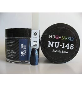 NuGenesis NUGENESIS Flash Blue - Nail Dipping Color Powder 43g NU 148