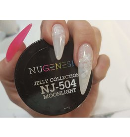 NuGenesis NUGENESIS Jelly Collection Moonlight - Nail Dipping Color Powder 43g NJ 504