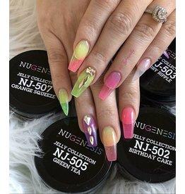 NuGenesis NUGENESIS - Nail Dipping Color Powder 43g NJ 505 Jelly Collection Green Tea