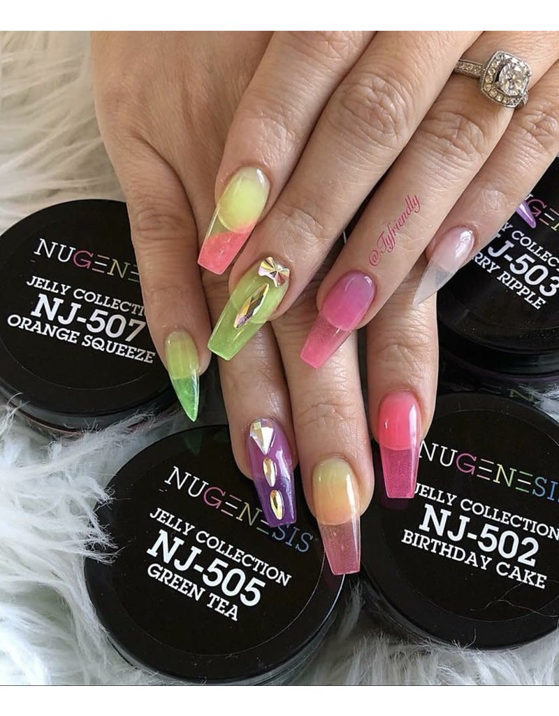NuGenesis NUGENESIS Jelly Collection Green Tea - Nail Dipping Color Powder 43g NJ 505