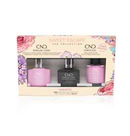 CND CND Coquette 3 bottles - Shellac + Vinylux + Top Coat