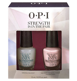 OPI OPI Strength Is In the Pair - Nail Envy Strength + Color Bubble Bath 15ml (0.5oz each)