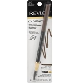 Revlon Revlon Colorstay Brown Pencil 210 Soft Brown- up to 24 hrs - Waterproof Blending Brush 0.35g