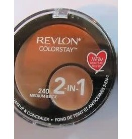 Revlon Revlon Colorstay 240 Medium Beige 2-in-1 compact makeup & concealer 1.3g