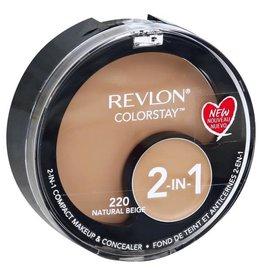 Revlon Revlon Colorstay 220 Natural Beige 2-in-1 compact makeup & concealer 1.3g