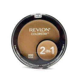 Revlon Revlon Colorstay 200 Nude 2-in-1 compact makeup & concealer 1.3g