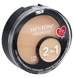 Revlon Revlon Colorstay 110 Ivory 2-in-1 compact makeup & concealer 1.3g