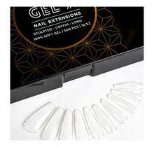 Apres Gel-X - Sculpted Coffin Long Tips 100% Soft Gel 500pcs