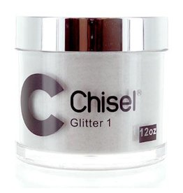 Chisel Nail Art - Dipping Powder Pink & White Collection 12 oz -  Glitter 01