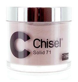 Chisel Nail Art - Dipping Powder Pink & White Collection 12 oz Refill -  Solid 71