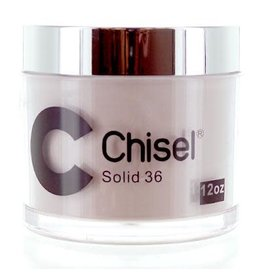 Chisel Nail Art - Dipping Powder Pink & White Collection 12 oz Refill -  Solid 36