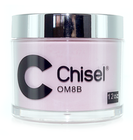 Chisel Nail Art - Dipping Powder Pink & White Collection 12 oz Refill -  OM08B