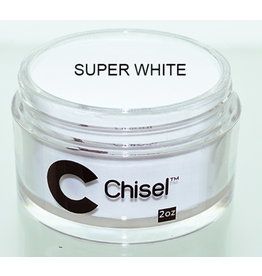 Chisel Nail Art - Dipping Powder 2 oz -  Super White