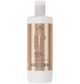 Schwarzkopf Blond Me Keratin Restore Bonding Shampoo - Sulfate Free - All Blondes - 1000 mL