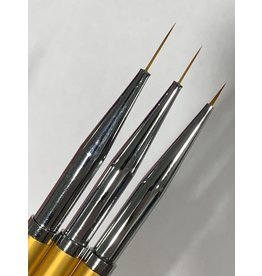 NAIL ART BRUSH SET GOLD - 3 PIECES