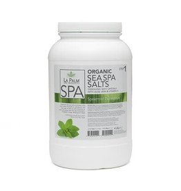 LA PALM La Palm - Organic Sea Spa Salt - Spearmint Eucalyptus - 1 GAL