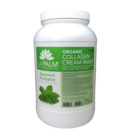 La Palm - Organic Collagen Crem Mask - Spearmint Eucalyptus - 1 GAL