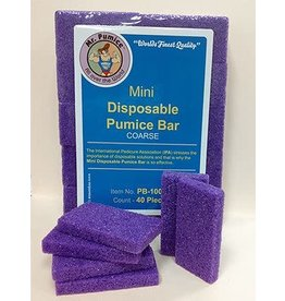 Mr. Pumice Pumice Bar Mr Pumice Mini Disposable Extra Coarse - 40pc/pack