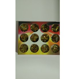 Nail Art Accessories - Glitter 12-jar-Set - Gold
