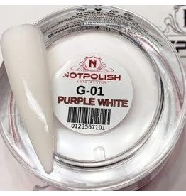 NOTpolish Notpolish 2-in1 Powder 2 oz. - G01 Purple White