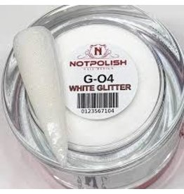 NOTpolish Notpolish 2-in1 Powder 2 oz. - G04 White Glitter