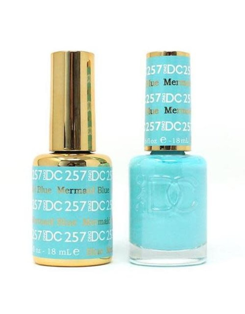 DND 257 BLUE MERMAID - DND DC Duo Gel Matching Color