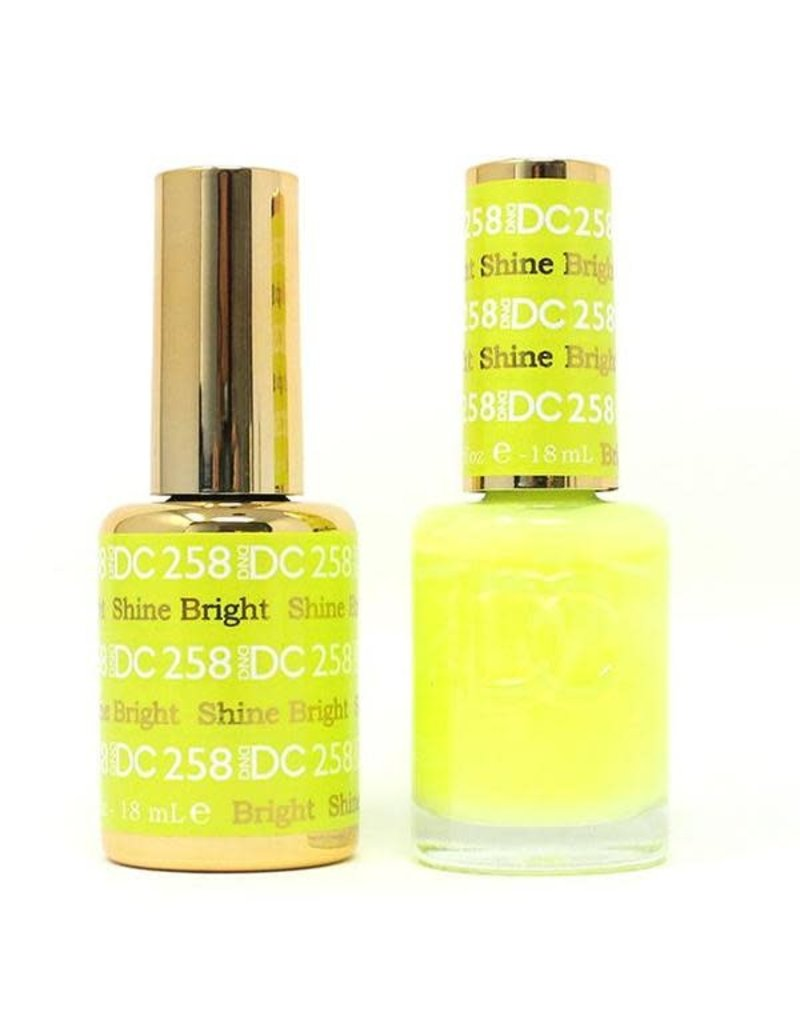 DND 258 SHINE BRIGHT - DND DC Duo Gel Matching Color