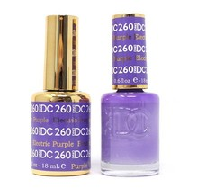 DND DC Duo Gel Matching Color - 260 ELECTRIC PURPLE