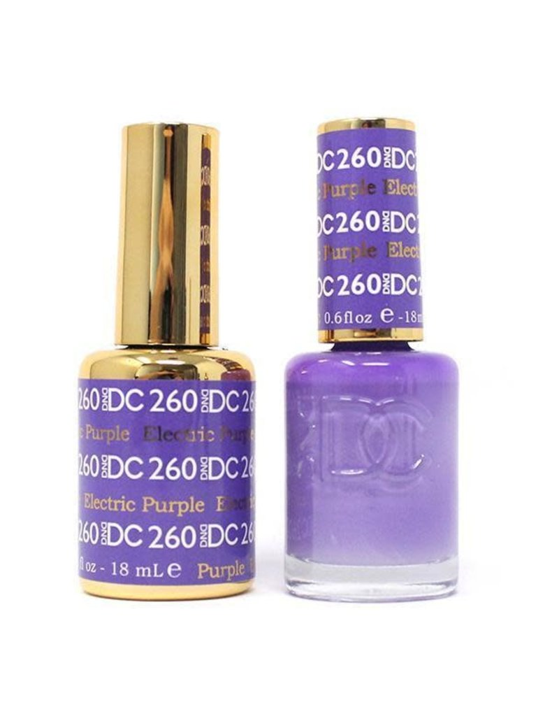 DND 260 ELECTRIC PURPLE - DND DC Duo Gel Matching Color