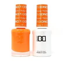DND Duo Gel Matching Color - 713 Orange Sherbet