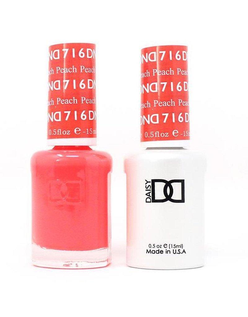 DND 716 Peach - DND Duo Gel + Lacquer
