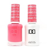 DND 718 Pink Grapefruit - DND Duo Gel + Lacquer