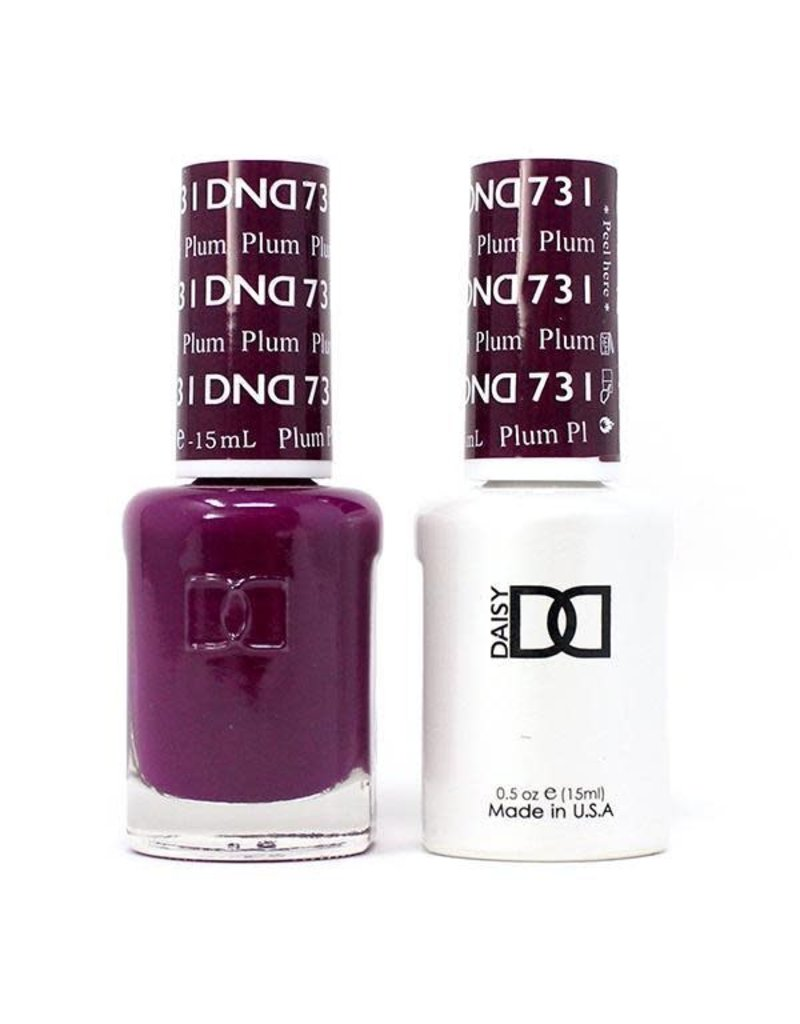 DND 731 Plum - DND Duo Gel + Lacquer
