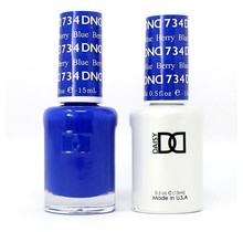 DND Duo Gel Matching Color - 734 Berry Blue