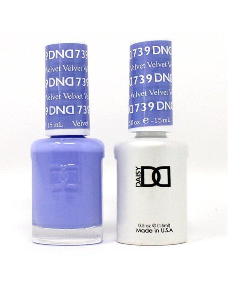DND 739 Velvet - DND Duo Gel + Lacquer